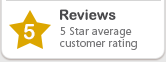 5 Star average customer rating